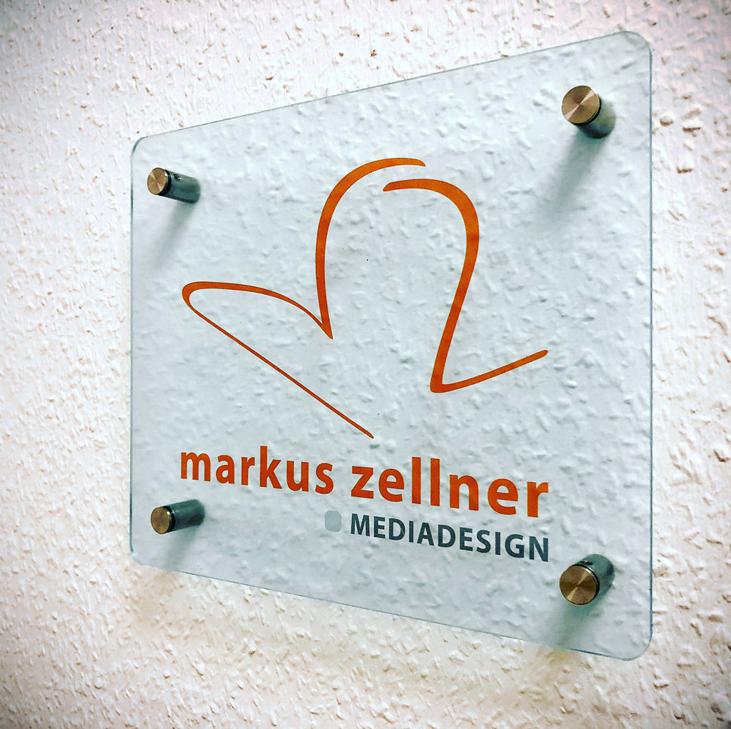 Firmenschild Markus Zellner Mediadesign