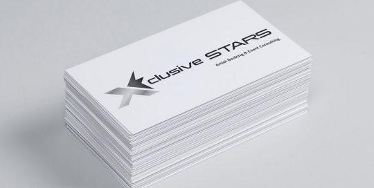 Logo Design X-clusive STARS GmbH Artist Booking & Event Consulting