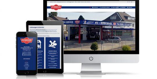 Website Dieter Overdick KFZ Reparaturen GmbH & Co. KG