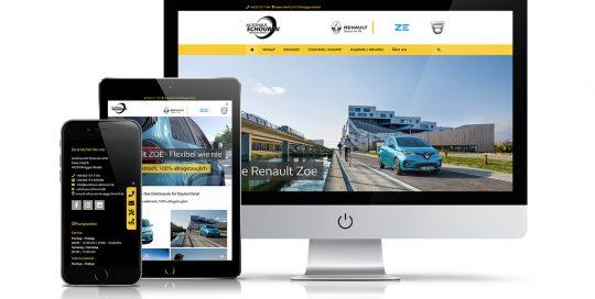 Website Autohaus W. Schouren oHG