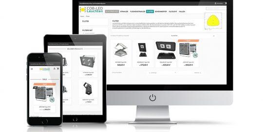 Website COB-LED Leuchten - Artenia Licht-und Möbeldesign GmbH
