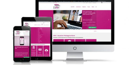 Website Deutscher Philologenverband