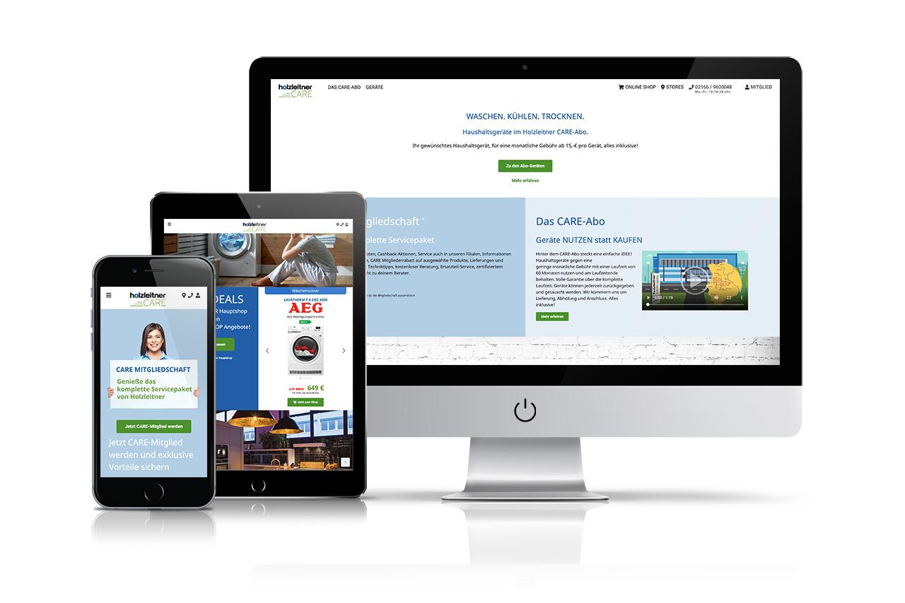 Website Holzleitner Care
