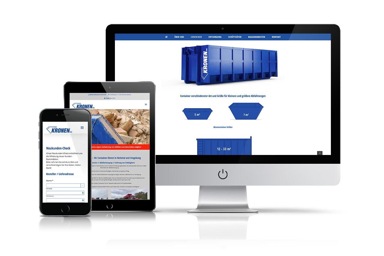 Website Kronen Container OHG