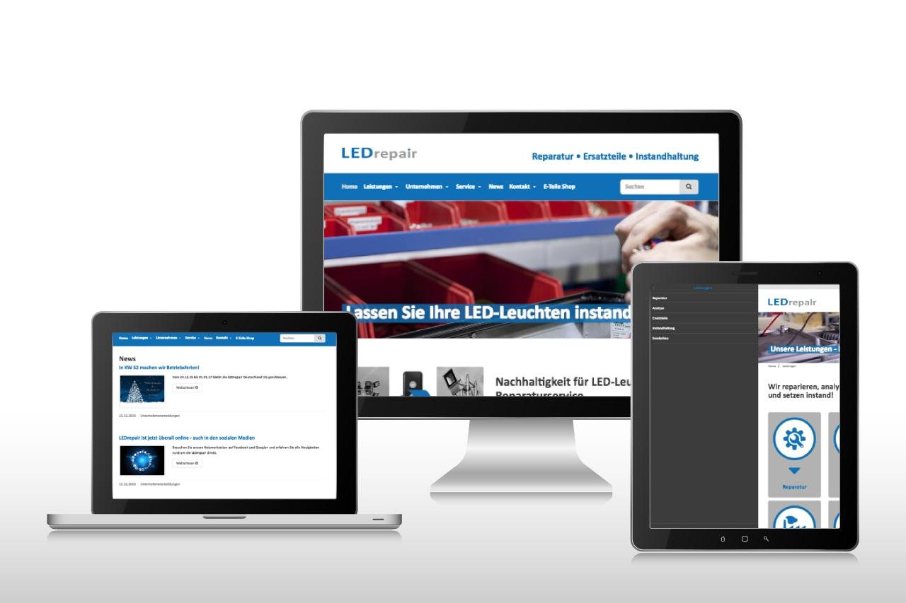 Website LEDrepair Deutschland UG