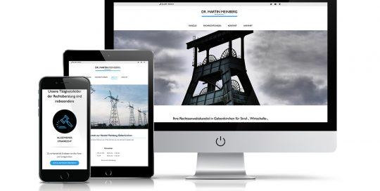 Website Dr. Martin Meinberg Rechtsanwalt