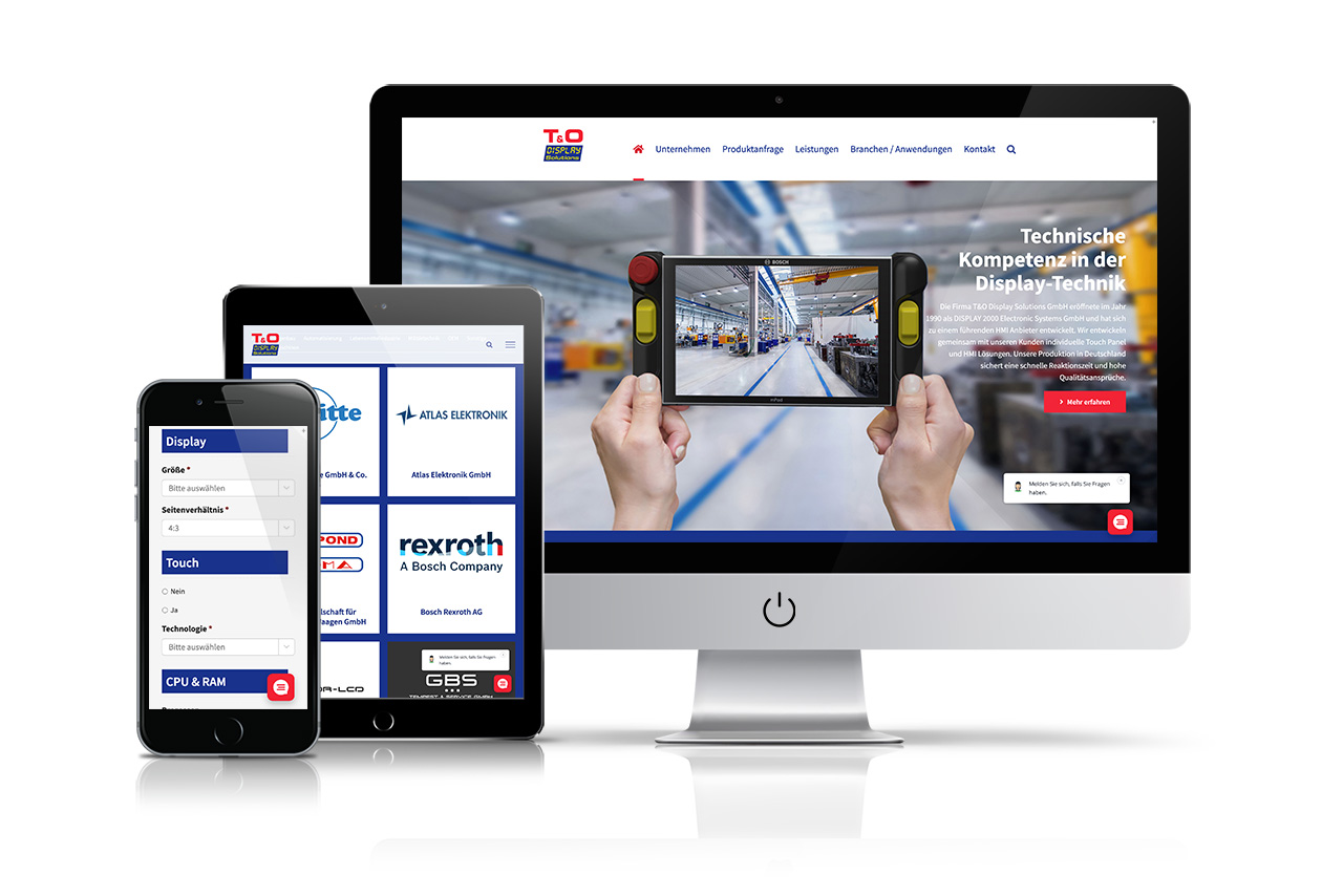 Website T&O Display Solutions GmbH