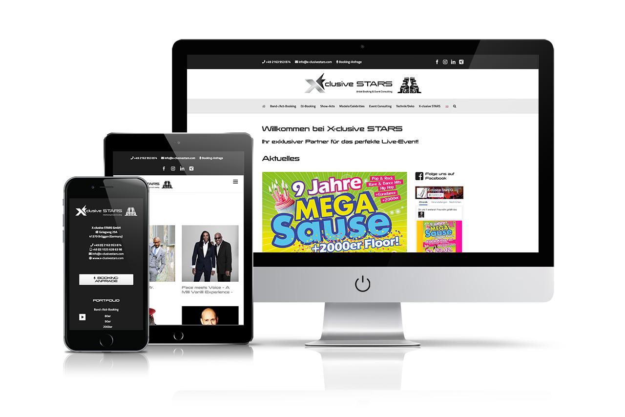 Website X-clusive Stars GmbH
